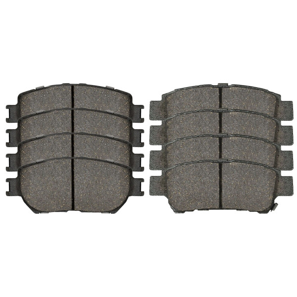 Front and Rear Ceramic Brake Pad Bundle 4 Wheel Disc - Part # SCD906-995