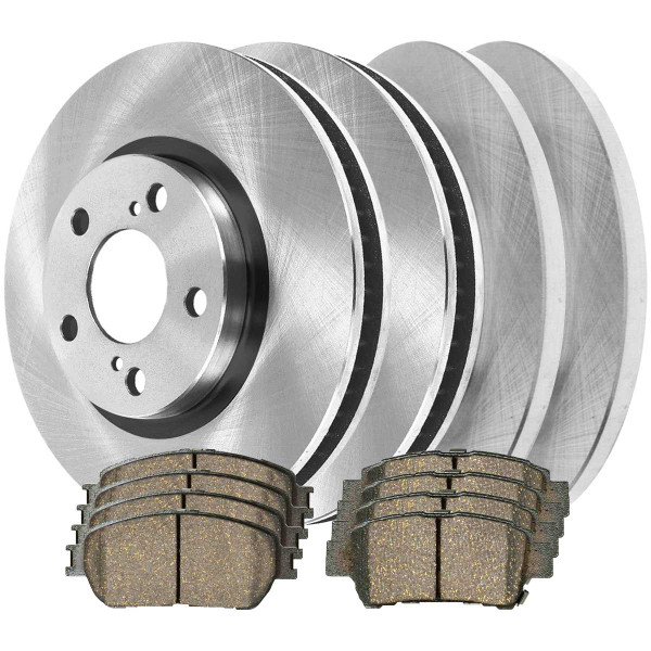 Front and Rear Ceramic Brake Pad and Rotor Bundle - Part # SCD9062103