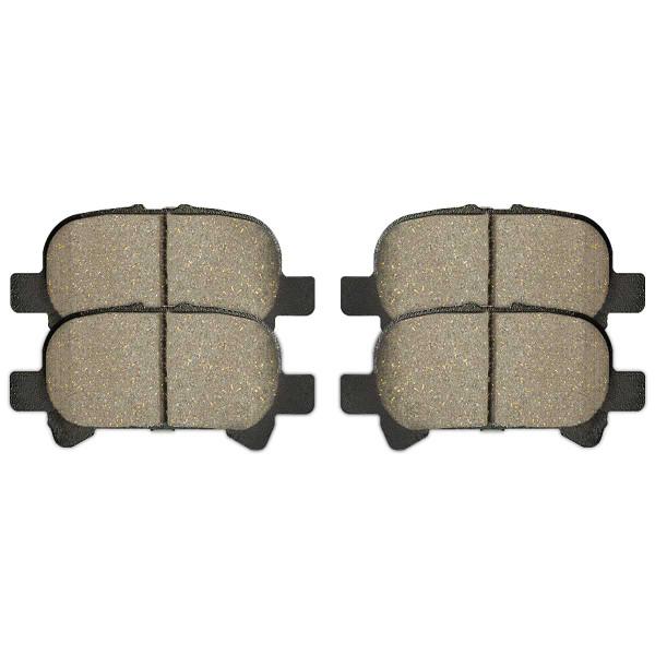 Front and Rear Ceramic Brake Pad Bundle 4 Wheel Disc - Part # SCD908-828