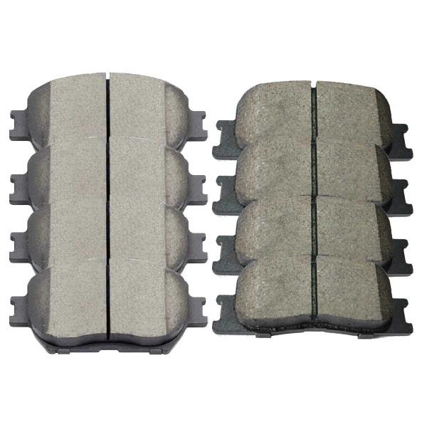Front and Rear Ceramic Brake Pad Bundle 4 Wheel Disc - Part # SCD908-885