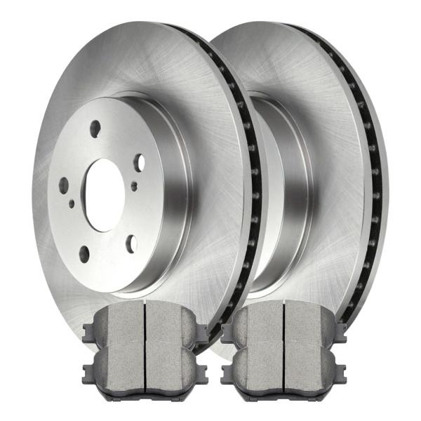 [Front Set] 2 Brake Rotors & 1 Set Ceramic Brake Pads - Part # SCD908-R41316