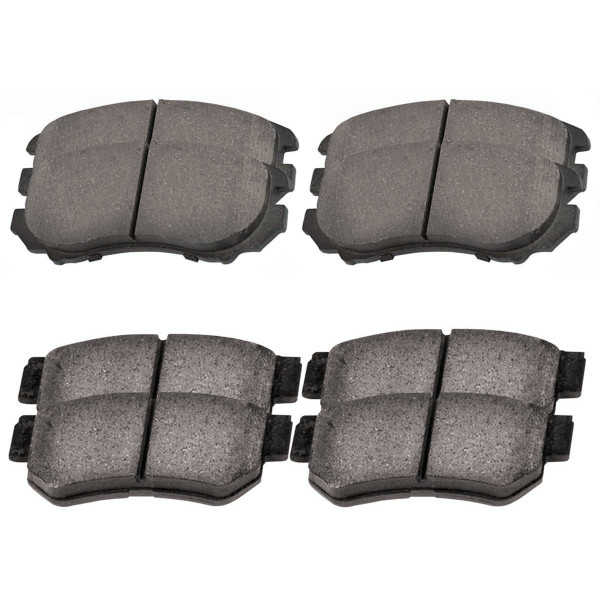 Front and Rear Ceramic Brake Pad Bundle 4 Wheel Disc - Part # SCD924-813