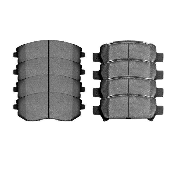 Front and Rear Ceramic Brake Pad Bundle 4 Wheel Disc - Part # SCD929-770