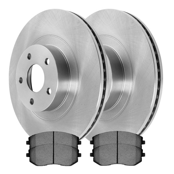[Front Set] 2 Brake Rotors & 1 Set Ceramic Brake Pads - Part # SCD929-R41061