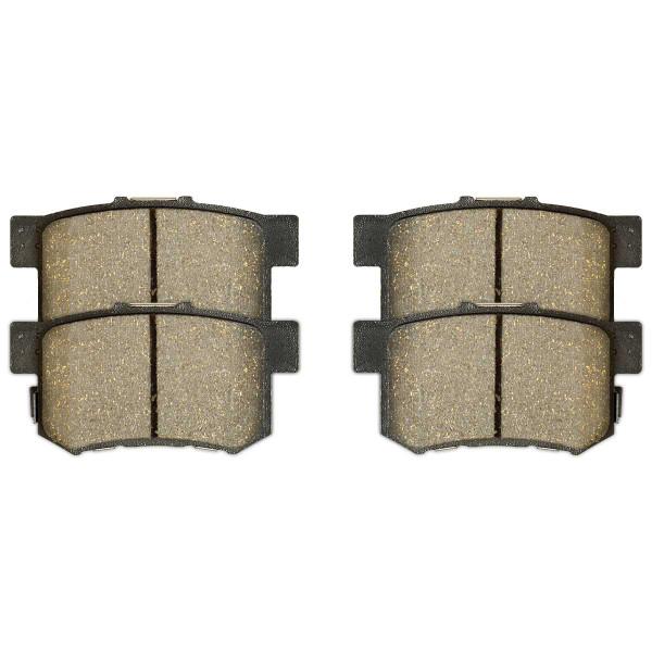 Front and Rear Ceramic Brake Pad Bundle 4 Wheel Disc - Part # SCD948-537