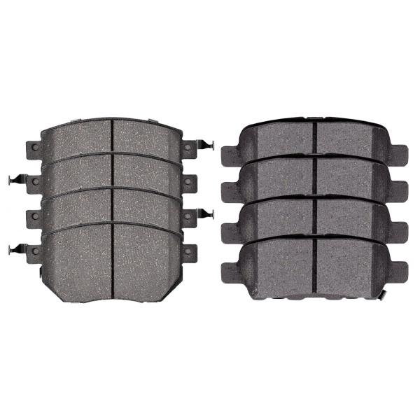 Front and Rear Ceramic Brake Pad Bundle - Part # SCD969-905