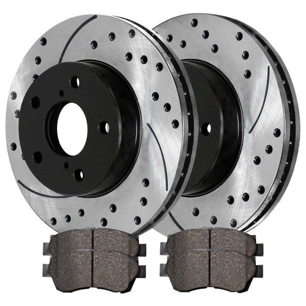 Front Ceramic Brake Pad and Performance Rotor Bundle - Part # SCDPR4105241052476