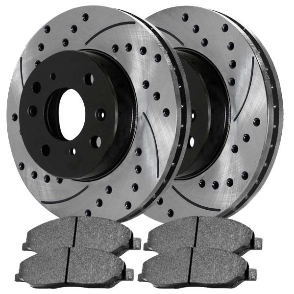 Front Ceramic Brake Pad and Performance Rotor Bundle 2.3L - Part # SCDPR4124541245465