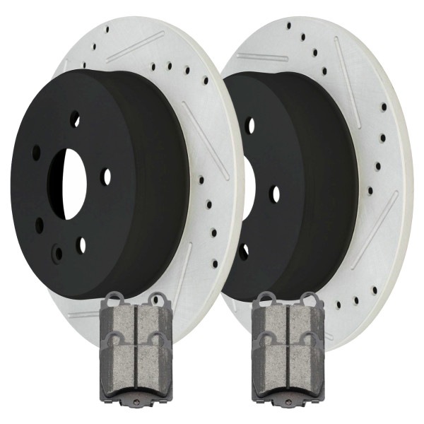 Rear Ceramic Brake Pad and Performance Rotor Bundle - Part # SCDPR4125541255771