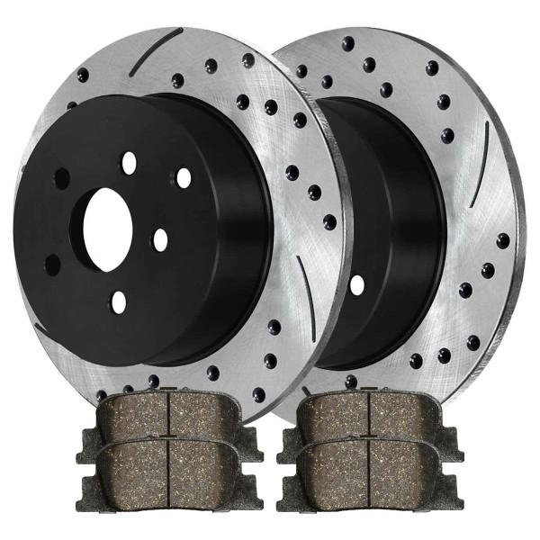 Rear Ceramic Brake Pad and Performance Rotor Bundle - Part # SCDPR4127141271835