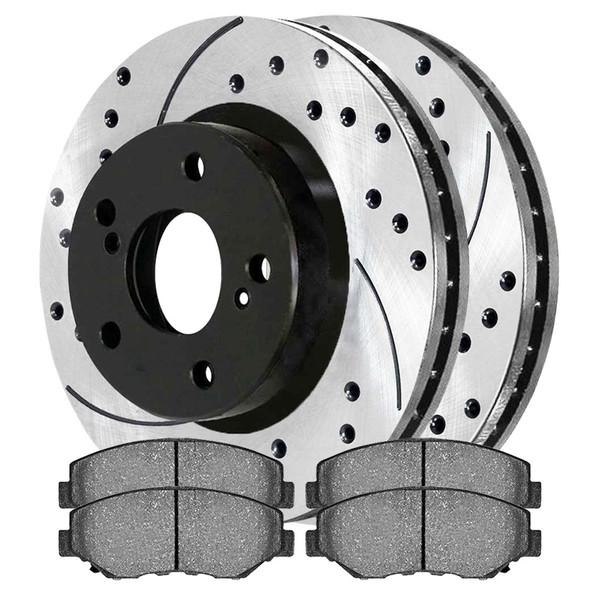Front Ceramic Brake Pad and Performance Rotor Bundle 11.8 Inch Rotor Diameter - Part # SCDPR4127741277914