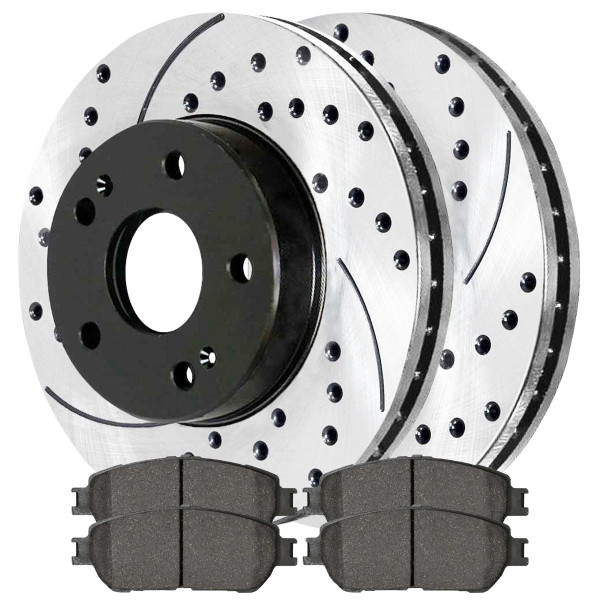 Front Ceramic Brake Pad and Performance Rotor Bundle - Part # SCDPR4131641316906