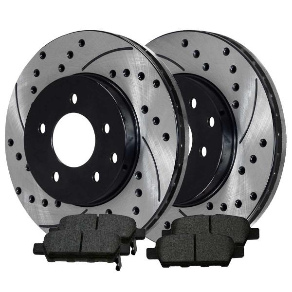Rear Ceramic Brake Pad and Performance Rotor Bundle - Part # SCDPR4135041350905