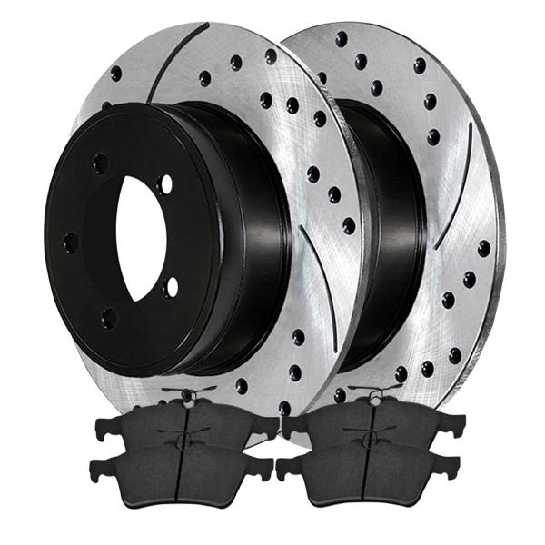 Rear Ceramic Brake Pad and Performance Rotor Bundle - Part # SCDPR41367413671095