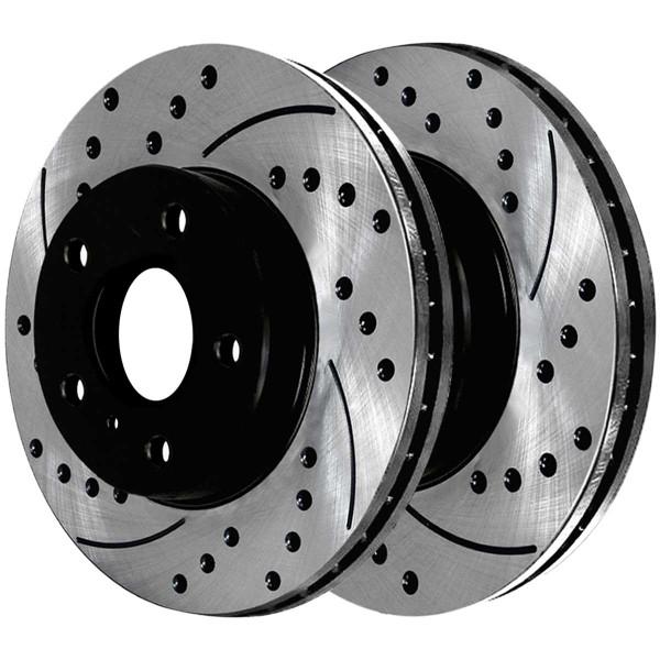 Front Ceramic Brake Pad and Performance Rotor Bundle - Part # SCDPR4137741377969