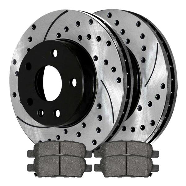 Rear Ceramic Brake Pad and Performance Rotor Bundle - Part # SCDPR4138941389905