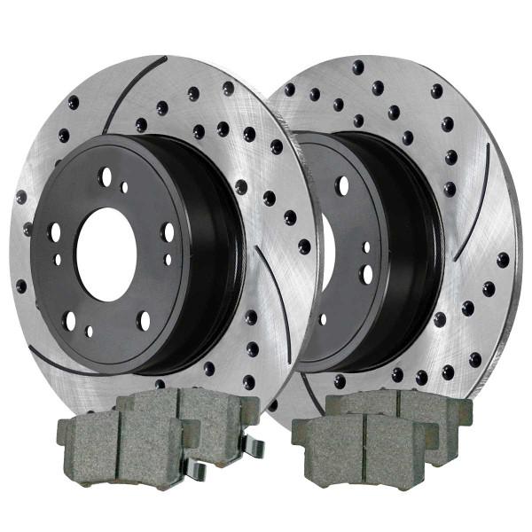 Rear Ceramic Brake Pad and Performance Rotor Bundle - Part # SCDPR4142241422537
