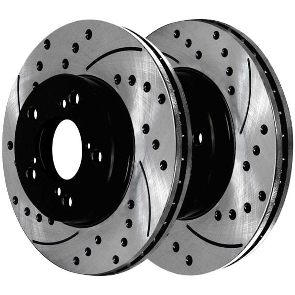 Front Ceramic Brake Pad and Performance Rotor Bundle - Part # SCDPR41470414701280