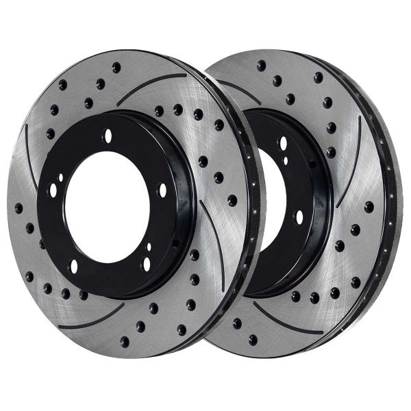 Front Ceramic Brake Pad and Performance Rotor Bundle - Part # SCDPR41484414841303