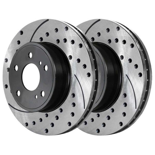 Front Ceramic Brake Pad and Performance Rotor Bundle - Part # SCDPR4410344103853