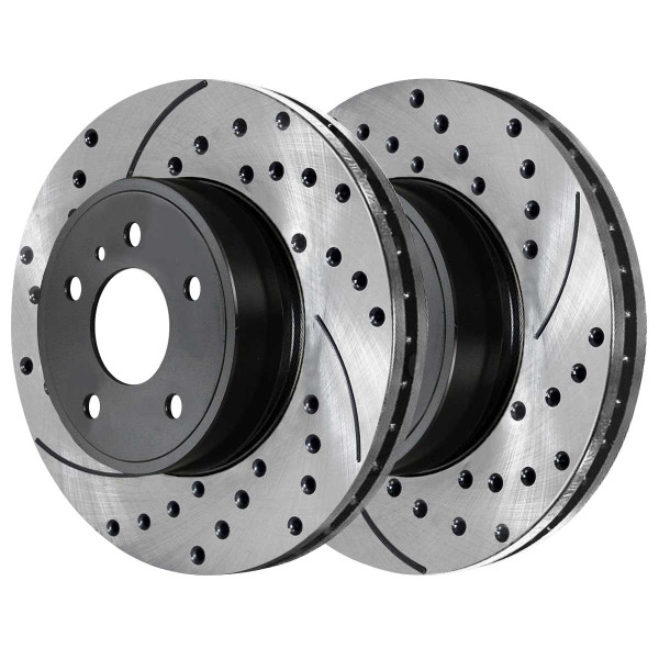 Front Ceramic Brake Pad and Performance Rotor Bundle 280mm Rotor Diameter - Part # SCDPR4414544145768A