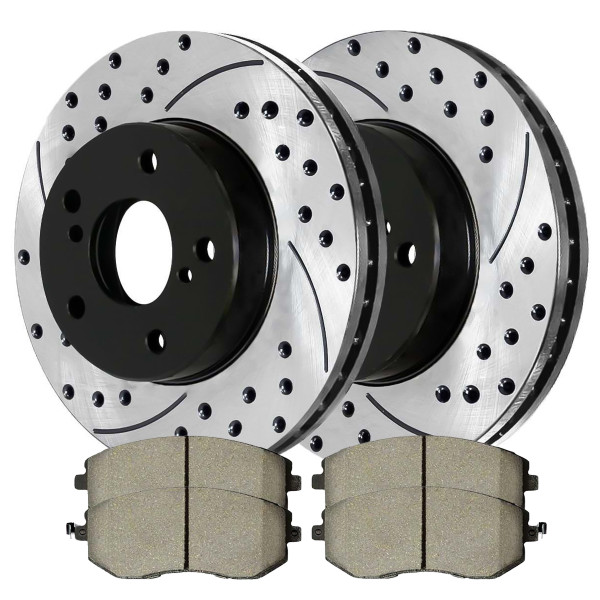 Front Ceramic Brake Pad and Performance Rotor Bundle - Part # SCDPR4420544205929
