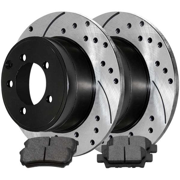 Rear Ceramic Brake Pad and Performance Rotor Bundle 10.313 Inch Rotor Diameter - Part # SCDPR63038630381037