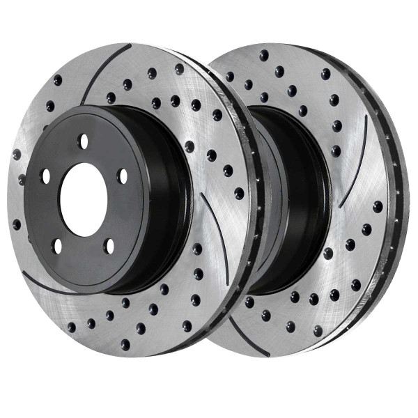 Front Ceramic Brake Pad and Performance Rotor Bundle 11.57 Inch Rotor Diameter - Part # SCDPR6304063040866