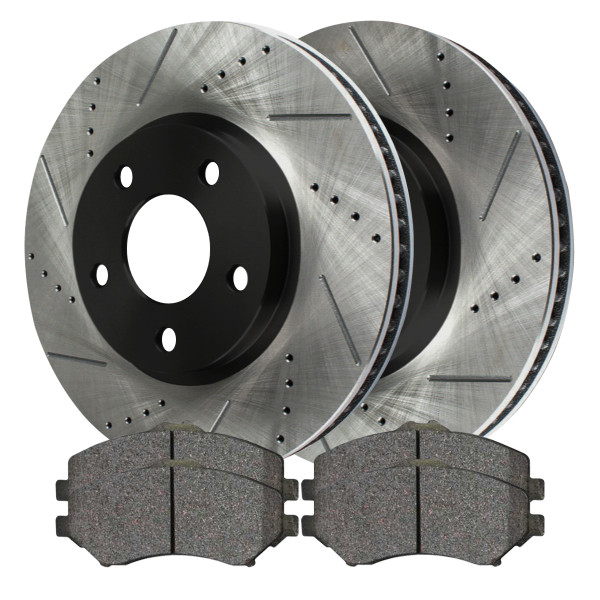 Front Ceramic Brake Pad and Performance Rotor Bundle 11.89 Inch Rotor Diameter - Part # SCDPR63042630421273