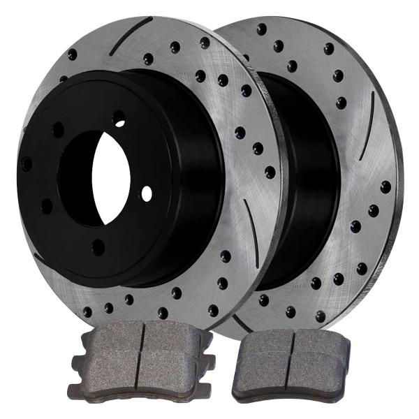 Rear Ceramic Brake Pad and Performance Rotor Bundle 11.89 Inch Rotor Diameter - Part # SCDPR6304563045868