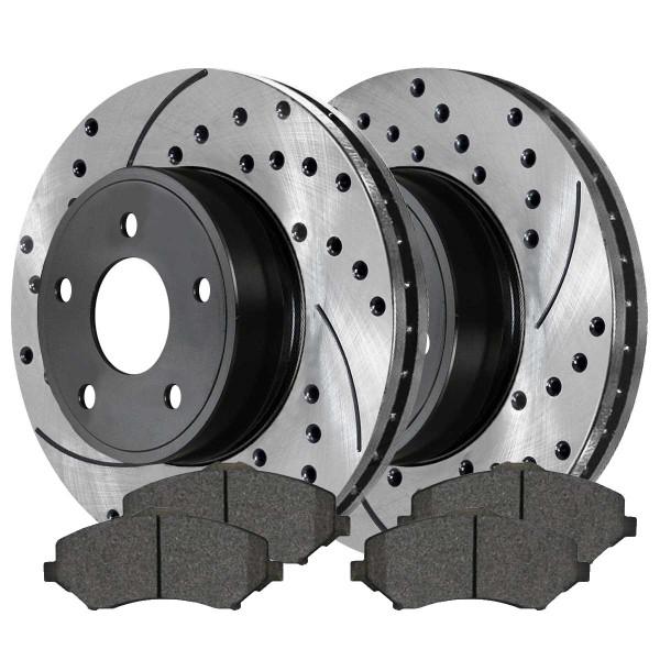 Front Ceramic Brake Pad and Performance Rotor Bundle 11.89 Inch Rotor Diameter - Part # SCDPR63053630531273