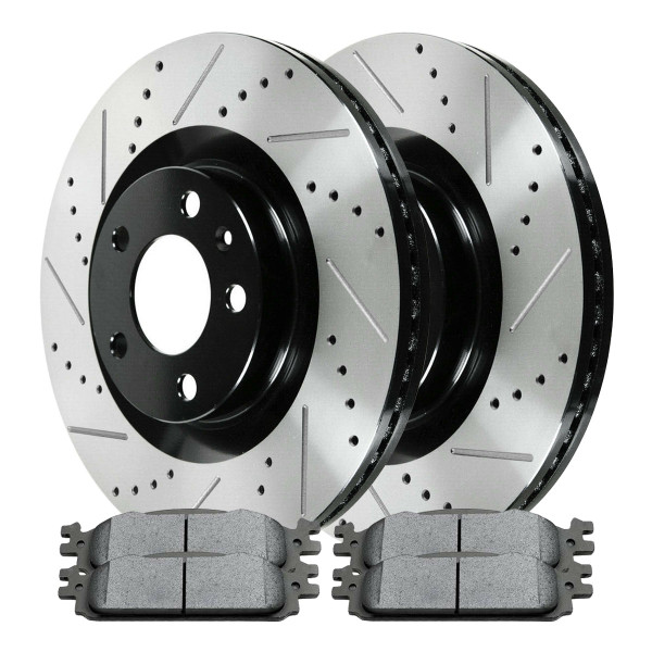 Front Ceramic Brake Pad and Performance Rotor Bundle 12.80 Inch Rotor Diameter - Part # SCDPR64168641681376
