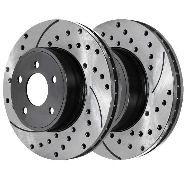 Front Ceramic Brake Pad and Performance Rotor Bundle 11.92 Inch Rotor Diameter 5 Stud - Part # SCDPR6503665036699