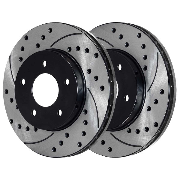 Front Ceramic Brake Pad and Performance Rotor Bundle 10.94 Inch Rotor Diameter - Part # SCDPR6503865038699