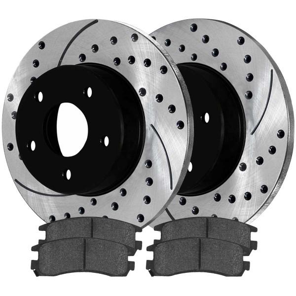 Rear Ceramic Brake Pad and Performance Rotor Bundle - Part # SCDPR6504165041698