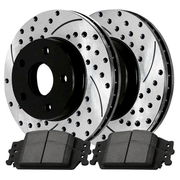Front Ceramic Brake Pad and Performance Rotor Bundle 10.94 Inch Rotor Diameter - Part # SCDPR6504265042727
