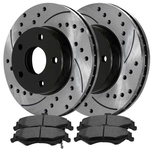 Rear Ceramic Brake Pad and Performance Rotor Bundle - Part # SCDPR6505265052750