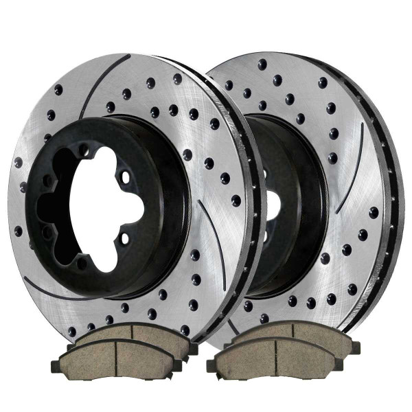 Front Ceramic Brake Pad and Performance Rotor Bundle - Part # SCDPR65092650921039