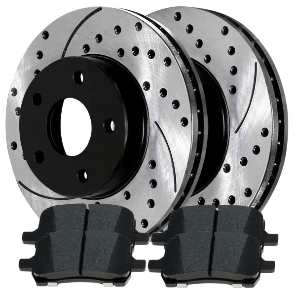 Front Ceramic Brake Pad and Performance Rotor Bundle 11.65 Inch Rotor Diameter - Part # SCDPR65095650951160