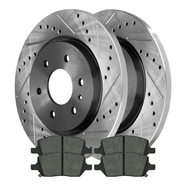 Rear Ceramic Brake Pad and Performance Rotor Bundle - Part # SCDPR65121651211093