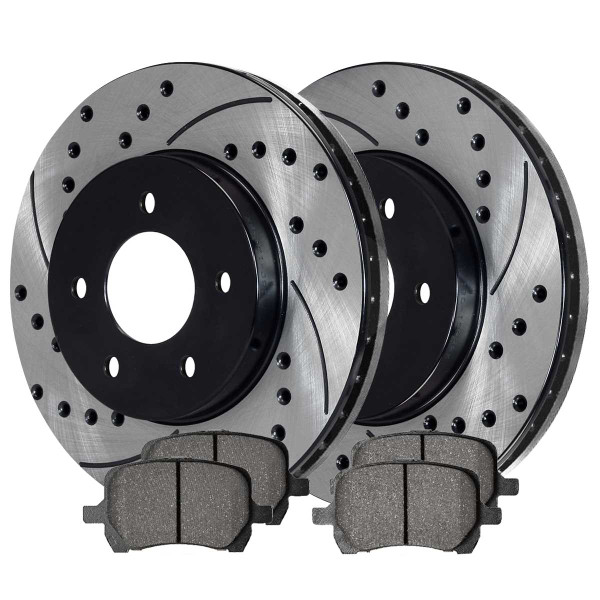 Front Ceramic Brake Pad and Performance Rotor Bundle - Part # SCDPR65124651241160