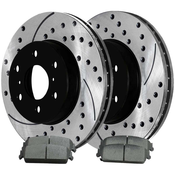 Rear Ceramic Brake Pad and Performance Rotor Bundle - Part # SCDPR65135651351194