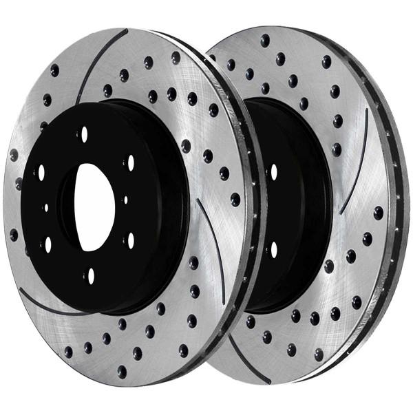 Rear Ceramic Brake Pad and Performance Rotor Bundle - Part # SCDPR65135651351194