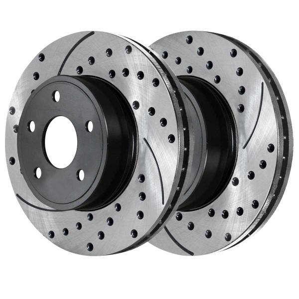 Front Ceramic Brake Pad and Performance Rotor Bundle - Part # SCDPR65826582673