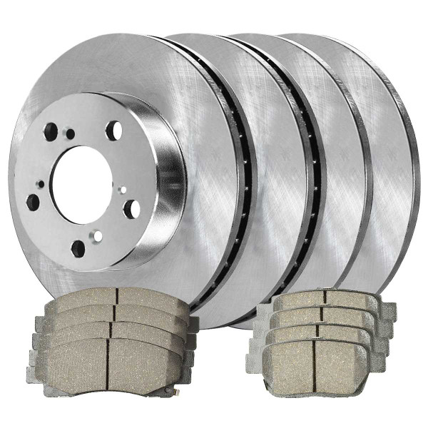 Front and Rear Ceramic Brake Pad and Rotor Bundle - Part # SCDR7453