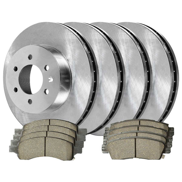 Front and Rear Ceramic Brake Pad and Rotor Bundle - Part # SCDR757