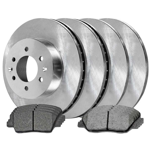 Front and Rear Ceramic Brake Pad and Rotor Bundle - Part # SCDR8592