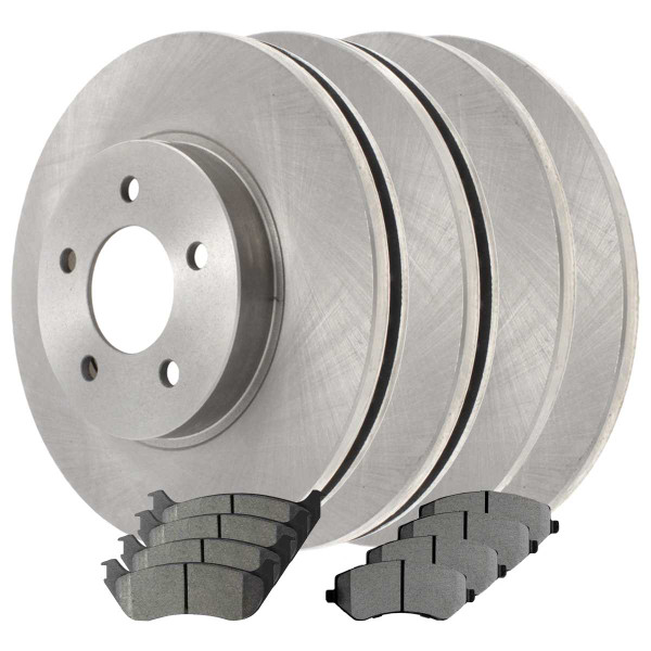 Front and Rear Ceramic Brake Pad and Rotor Bundle - Part # SCDR9995