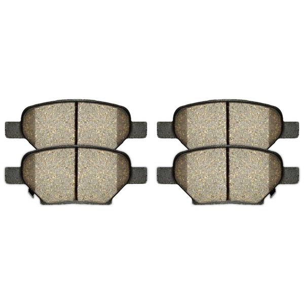 Rear Semi Metallic Brake Pad Set 4 Wheel Disc - Part # SMK1033