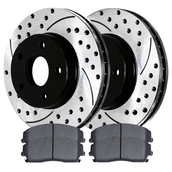 Front Semi Metallic Brake Pad and Performance Rotor Bundle 12.60 Inch Diameter - Part # SMK1056-PR63024LR